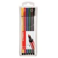 """Фломастеры """"pen 68"""", 6 цветов, STABILO"""