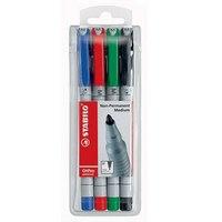 Набор маркерных ручек для проекционных пленок, 1мм, STABILO