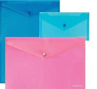 """Папка-конверт """"envelope"""", с6, на кнопке, диагональ, прозрачная, ErichKrause"""