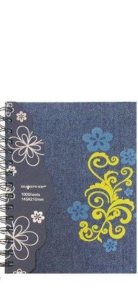 "Тетрадь общая ""jeans flowers"", 100 листов, клетка, Silwerhof"