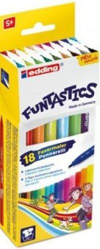 """Набор фломастеров для рисования """"funtastics"""", 18 цветов, 1 мм, Edding"""