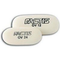 Ластик мягкий овальный, из синтетического каучука, 49х23,5х9,2 мм, Factis