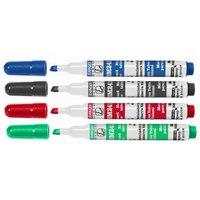 """Набор маркеров для досок """"bm241"""", клиновидный наконечник, 4 штуки, Stanger"""