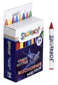"Восковые мелки ""space battle"", 24 цвета, Silwerhof"