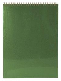 """Блокнот """"office"""", на гребне, а4, зеленый, Альт"""