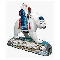 """Игрушка новогодняя коллекционная """"дед мороз на белом медведе"""", Mister Christmas"""
