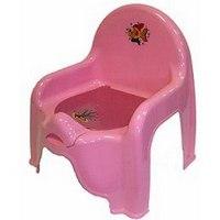 Горшок-стульчик детский, розовый, М-Пластика