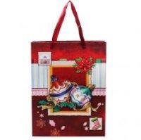 """Подарочный пакет """"с новым годом"""", 26x32x10 см, Miraculous"""