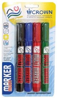 """Набор перманентных маркеров """"multi marker"""", 4 штуки, CROWN"""