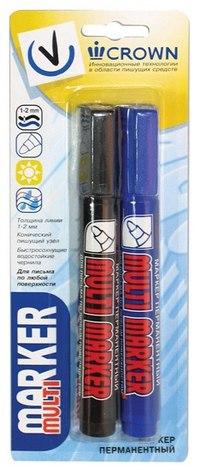 """Набор перманентных маркеров """"multi marker"""", 2 штуки, CROWN"""