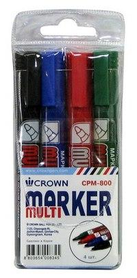 """Набор перманентных маркеров """"multi marker"""", 4 цвета, CROWN"""