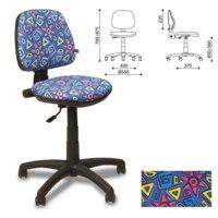 """Кресло детское """"swift gts"""" без подлокотников, синее с рисунком, Nowy styl"""