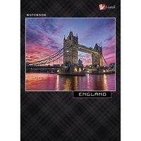 """Книга для записей """"городской стиль. путешествие по европе. англия"""", а6, Канц-Эксмо (Listoff, Unnika Land)"""