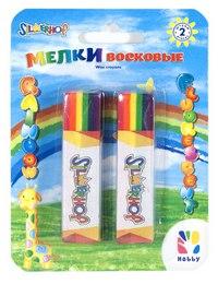 """Восковые мелки """"hobby. rainbow"""", флуоресцентные, 2 штуки, Silwerhof"""