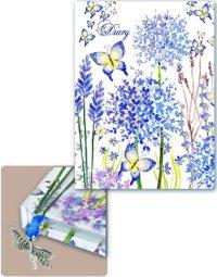 """Ежедневник недатированный """"синие цветы и бабочки"""", Феникс +"""