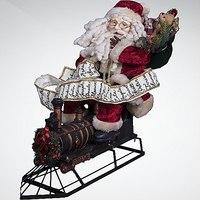 """Украшение интерьерное """"дед мороз на паровозе"""", Mister Christmas"""
