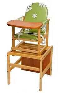 "Стол-стул ""октябренок"" (клеёнка), рисунок: зеленые ромашки, ПМДК"