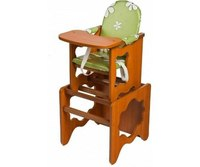 """Стол-стул """"премьер"""" лдсп, цвет: светлый орех, рисунок: зеленые ромашки, ПМДК"""