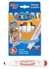"""Фломастеры для малышей """"carioca baby"""", 6 цветов, Universal"""