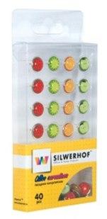 "Гвоздики канцелярские ""fruit"", 40 штук, Silwerhof"