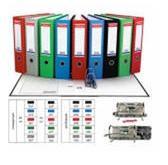 Папка-регистратор, бордовая, 80 мм, разобранная, без металлической окантовки, Index (канцтовары)