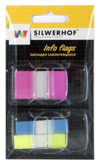 """Закладки самоклеящиеся """"two forms"""", 3 неоновых цвета, Silwerhof"""