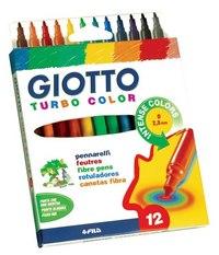 "Фломастеры ""turbocolor"", 12 цветов, FILA-GIOTTO"
