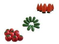 """Счетный материал """"овощи"""", Русские народные игрушки"""