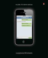 """Тетрадь """"sms-приколы черные"""", клетка, 48 листов, Альт"""