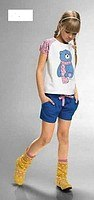 """Футболка для девочек """"t-shirt"""" (размер 6), красная, Pelican (одежда)"""