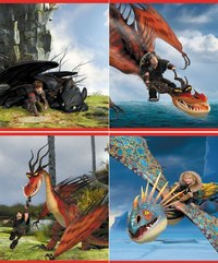 """Тетрадь """"как приручить дракона"""", клетка, 24 листа, Action!"""