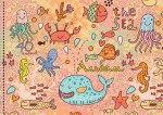 """Альбом для рисования """"морские обитатели (вечеринка)"""", евроспираль, 40 листов, Канц-Эксмо (Listoff, Unnika Land)"""