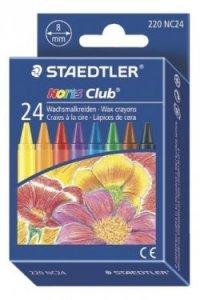 Набор восковых мелков, 8 мм, 24 цвета, Staedtler