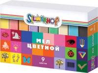 """Мел школьный """"emotions"""", цветной, 9 штук, Silwerhof"""