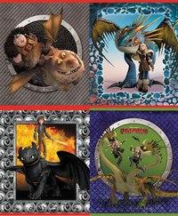 """Тетрадь """"как приручить дракона"""", клетка, 48 листов, Action!"""