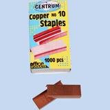 Скобы для степлера медные №10, 1000 штук, CENTRUM