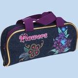 """Пенал-косметичка с ручками """"flowers """", 23,5x10x6,5 см, CENTRUM"""