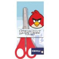 """Ножницы с закругленными концами с линейкой """"angry birds"""", 13 см (красные ручки), CENTRUM"""