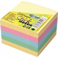 Блок для записей, 76x76 мм, 500 листов, 5 цветов, CENTRUM