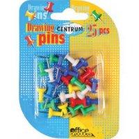 Кнопки канцелярские силовые, цветные, 25 штук, 8 мм, CENTRUM