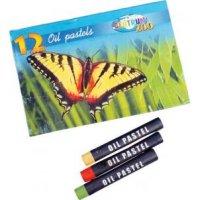 """Мелки пастельные """"zoo"""", на масляной основе, 12 цветов, CENTRUM"""