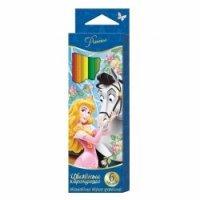 """Карандаши цветные """"disney. принцессы"""", толстые, трехгранные, 6 цветов, Disney (Дисней)"""