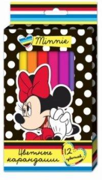 """Карандаши цветные """"disney. минни"""", толстые, трехгранные, 12 цветов, Disney (Дисней)"""