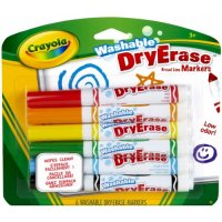 """Смываемые фломастеры """"dry erase"""", 6 штук, Crayola"""