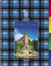 "Тетрадь на спирали ""шотландка"", а4, 120 листов, клетка, Hatber"