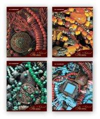 "Тетрадь ""natural stones"", клетка, 48 листов, Silwerhof"