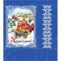 """Бумажный пакет для сувенирной продукции """"дети"""", с ламинацией, Феникс Present"""