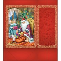 """Бумажный пакет для сувенирной продукции """"дед мороз и снегурочка"""", с ламинацией, Феникс Present"""