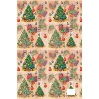 """Подарочная упаковочная бумага """"рождественский подарки"""", Феникс Present"""
