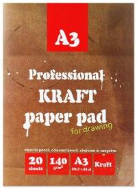 Папка для рисования и эскизов, а3, 20 листов, Kroyter
